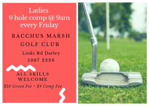 Ladies 9 Hole Golf Comp