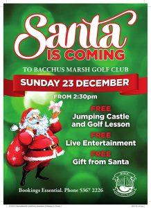 Bacchus Marsh Golf Club - Santa is coming to the club