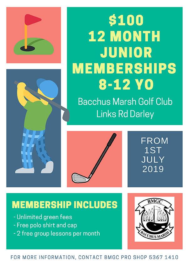 Junior Boys Golf Memberships