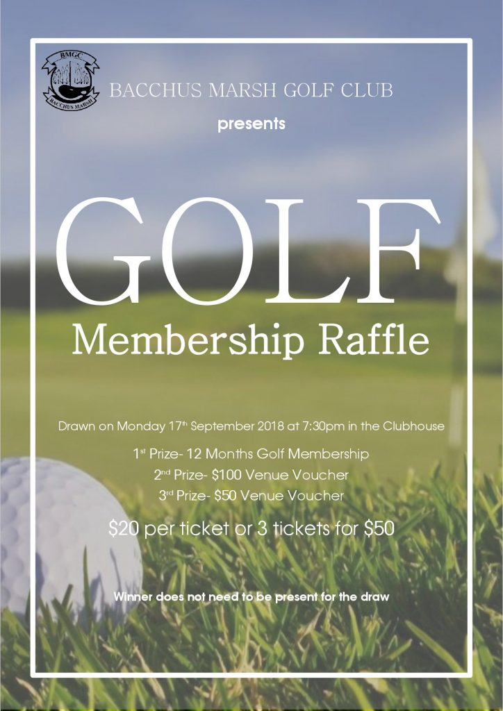 Golf Membership Raffle